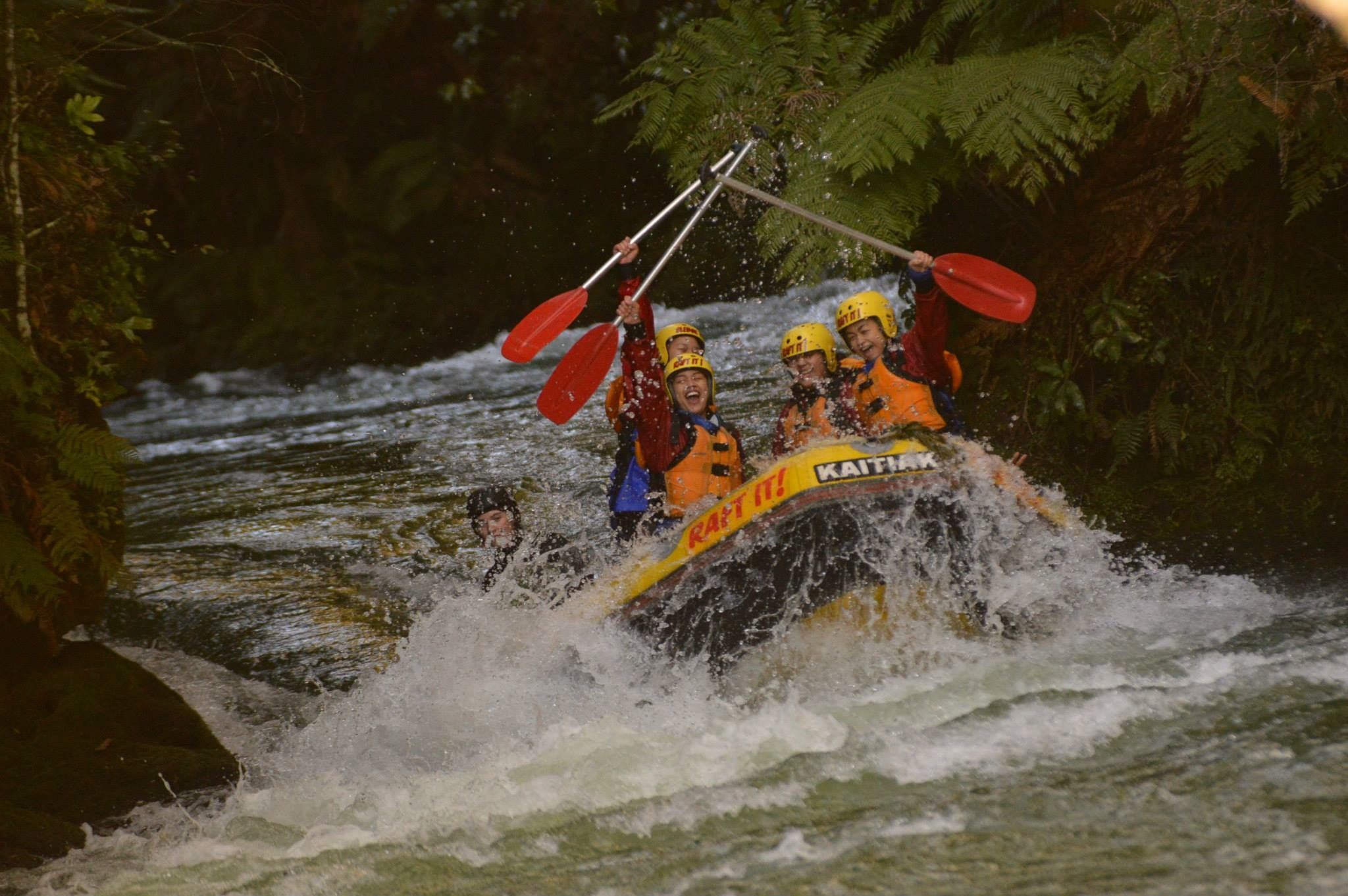 Some of New Zealand's most popular tourist activities are located outside the big cities, such as Kaitiaki White Water Rafting