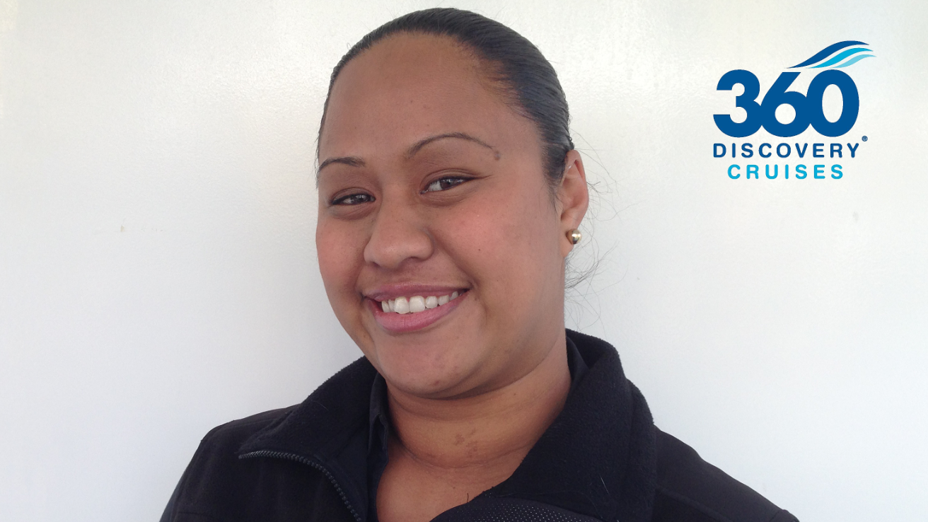 Study From Home graduate Chantell Awhero is enjoying her new career with 360 Discovery Cruises.